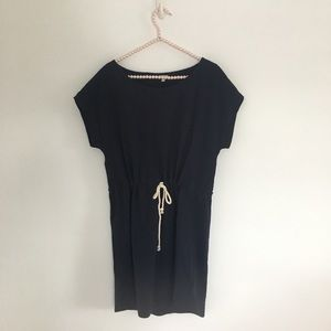 J Crew navy blue dress with rope tie at waist M